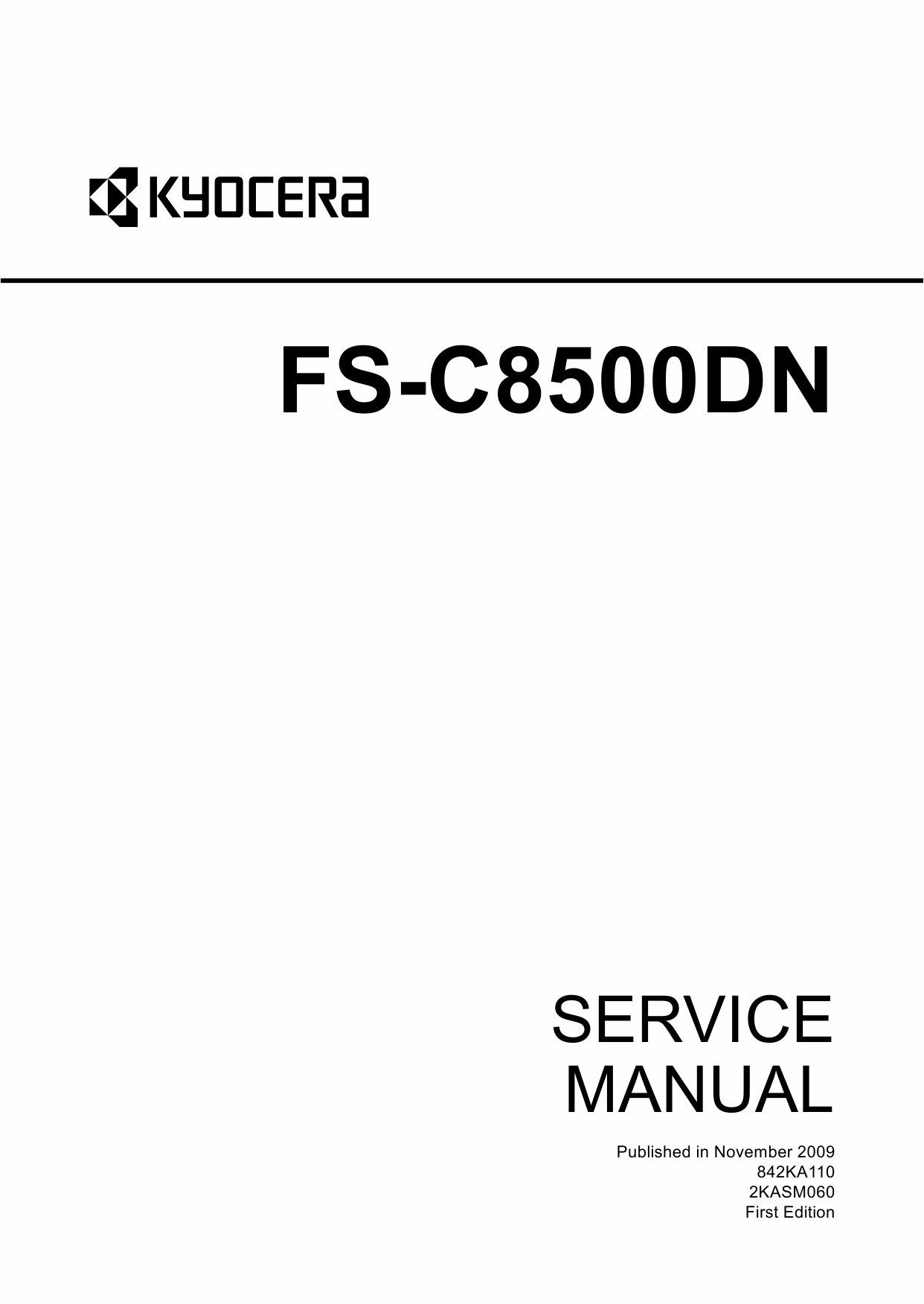 KYOCERA ColorLaserPrinter FS-C8500DN Service Manual-1